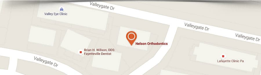 Map Nelson Orthodontics in Raleigh and Fayetteville NC